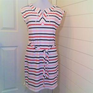 Tommy Hilfiger Nautical Stripe Dress w Tie Belt M